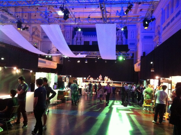 Caird Hall full of visitors trying out the new games. © Laura Southall