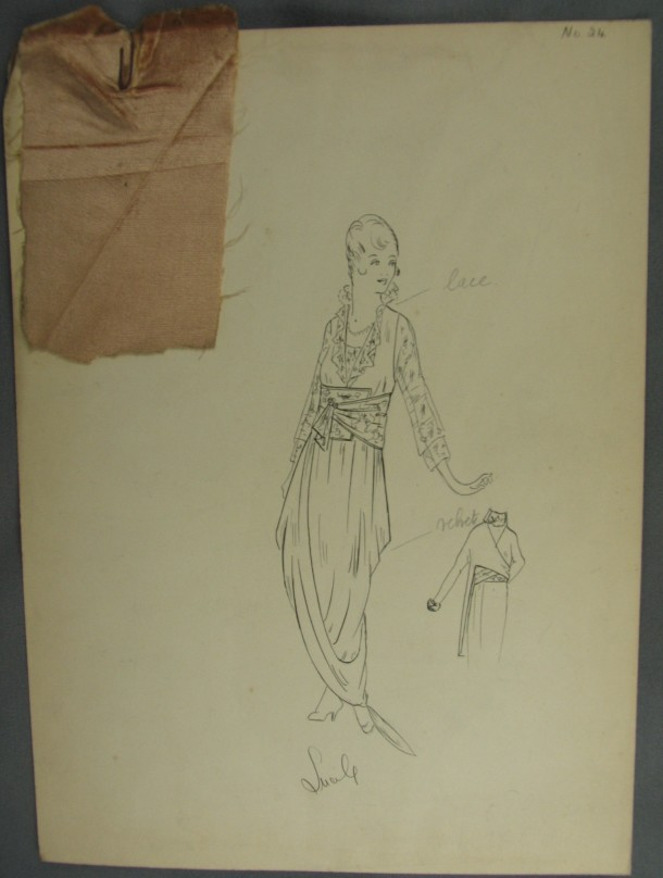 Milady, Lucile design no. 24, ca.1914. Archive of Art and Design, AAD/2008/6/25. © Victoria and Albert Museum, London