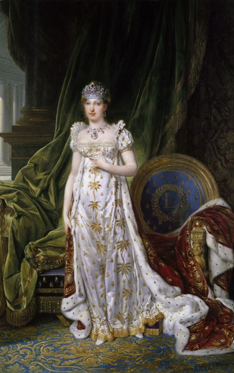 Portrait of Empress Marie-Louise, Jean-Baptiste Isabey, 1810. Kunsthistorisches Museum