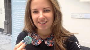 Johanna with her Wolsey Angels badge