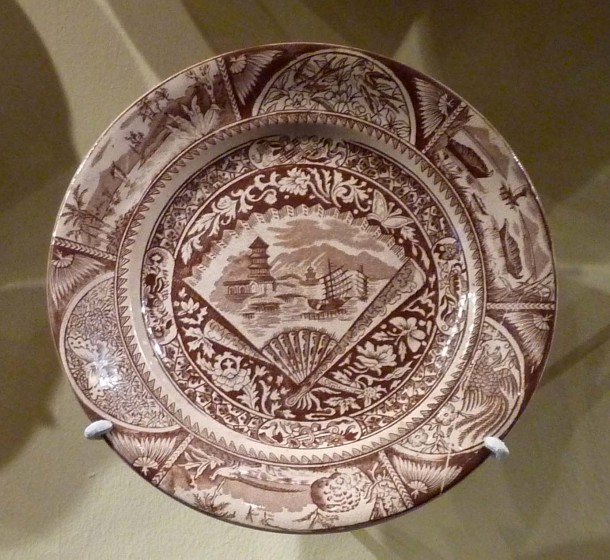 Plate with Johore pattern,