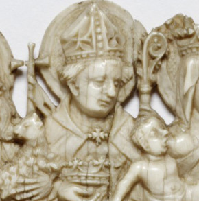 Detail of Louis as shown on 285-1867, a small ivory relief © Victoria and Albert Museum, London