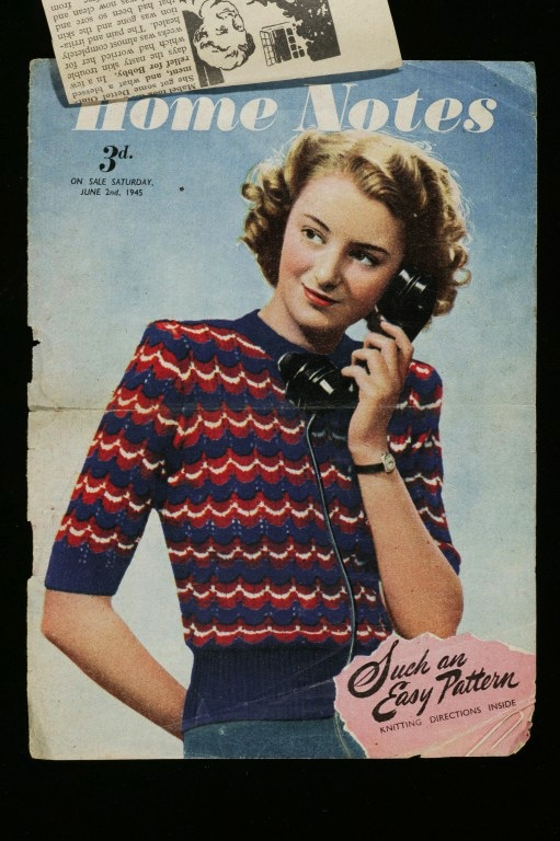 'Your Victory Jumper', knitting pattern, published in Home Notes magazine on 2 June 1945. Archive of Art and Design © Victoria and Albert Museum, London