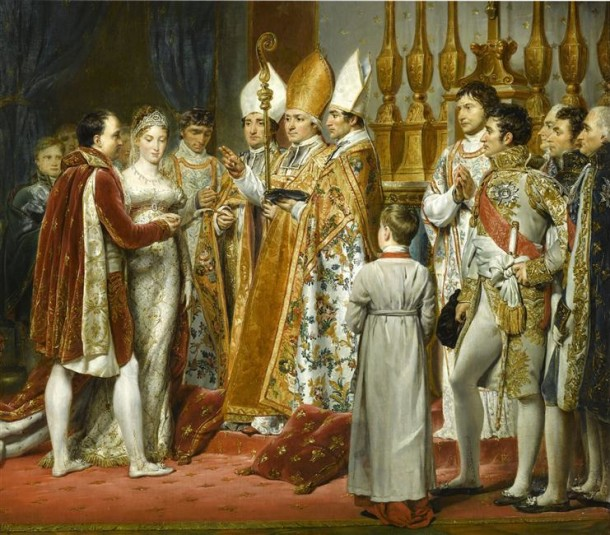 Marriage of Napoleon, Emperor of France, and Archduchess Marie Louise of Austria, eldest daughter of Holy Roman Emperor Franz II. (later Emperor Franz I. of Austria), Georges Rouget, 1810