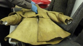 Alexander Popham's Buff Coat, ca.1945, Leeds Royal Armouries. Author's photograph, 2014