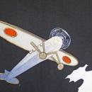 Detail of propaganda kimono