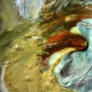 Swirls of colour under the micoscopeshows Constable's alla prima technique. © Victoria and Albert Museum, London.