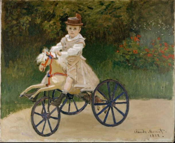 Child on hobby horse, Claude Monet, 1872.