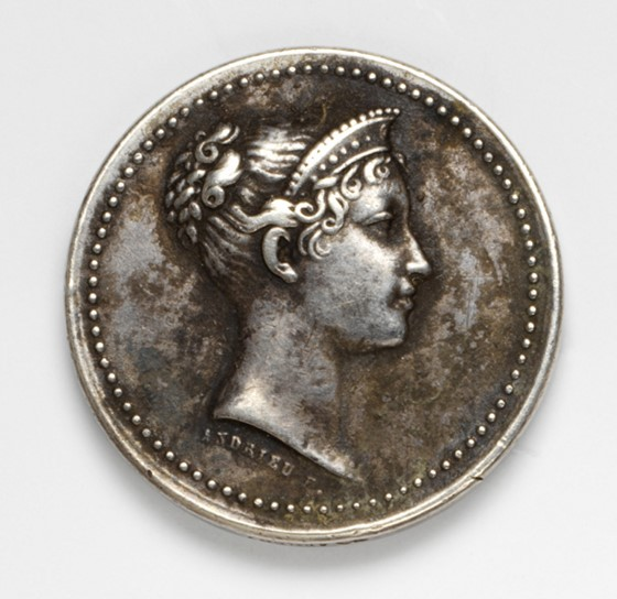 Another medallic portrait of Empress Marie-Louise, this time commemorating her visit to the Paris Mint, Andrieu and Brenet, French, 1813. V&A A.19-2005