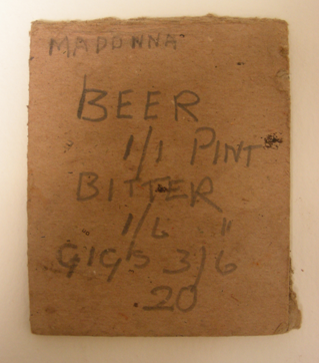 And additional note with very important information regarding the cos of beer in 1948