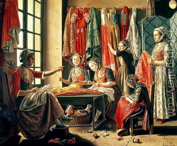 The Couturiers Workshop, Antoine Raspal, 1760. Musée Réattu, Arles, France
