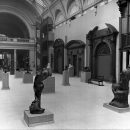 The Rodin Gift of sculptures as arranged by the sculptor in the West Hall (now the Porter Gallery), November 1914.