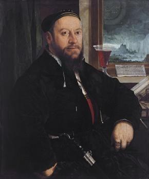Portrait of Matthäus Schwarz by Christoph Amberger, 1542, Thyssen-Bornemisza Museum