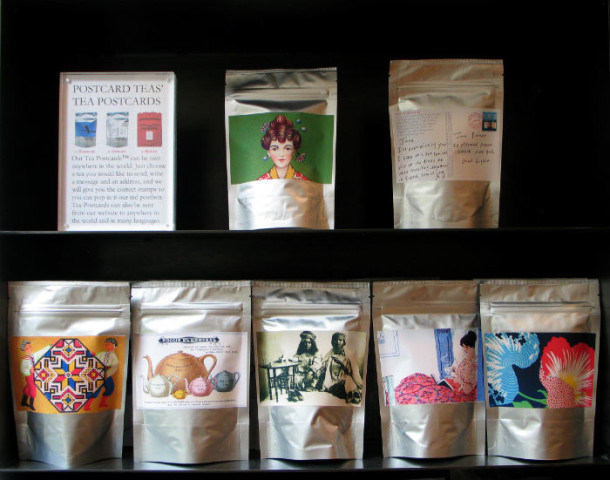 Selection of specialist teas. Courtesy of Postcard Teas