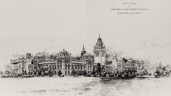 Design for the South Kensington Museum, by Aston Webb, 1891