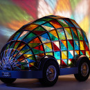 Stained Glass Car of the Future