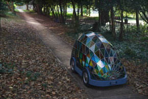 Stained Glass Car of the Future © Dominc Wilcox