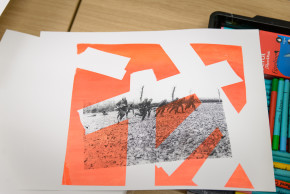 WWI Printmaking session