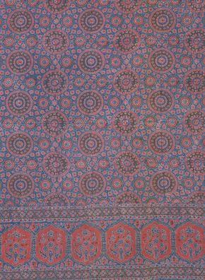 Piece of ajrakh textile, block printed cotton, Sind, ca. 1855-1879. Museum no. 5473 (IS).