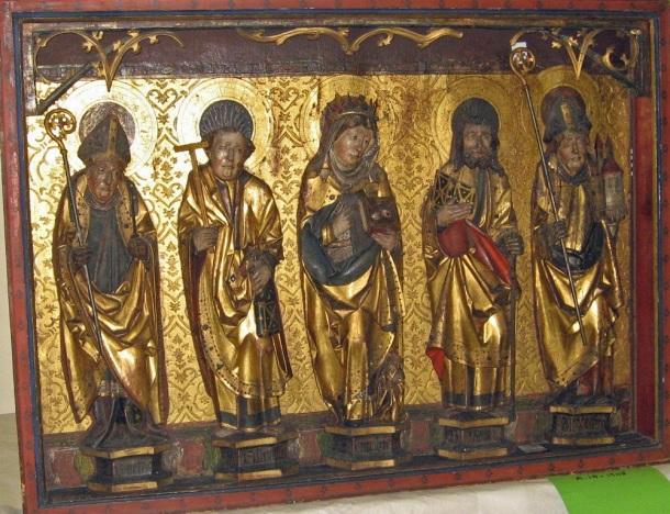 A.19-1945, Altarpiece, Saint Boniface, St Philip, St Otillia, St James the Less, St Wolfgang © Victoria and Albert Museum, London