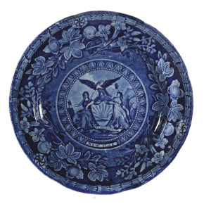 Plate, 'Arms of New York', Thomas Mayer  © Transferware Collectors Club