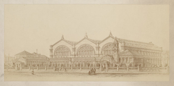 Design for the Bethnal Green Museum, by J.W. Wild c.1867. E.1117-1989