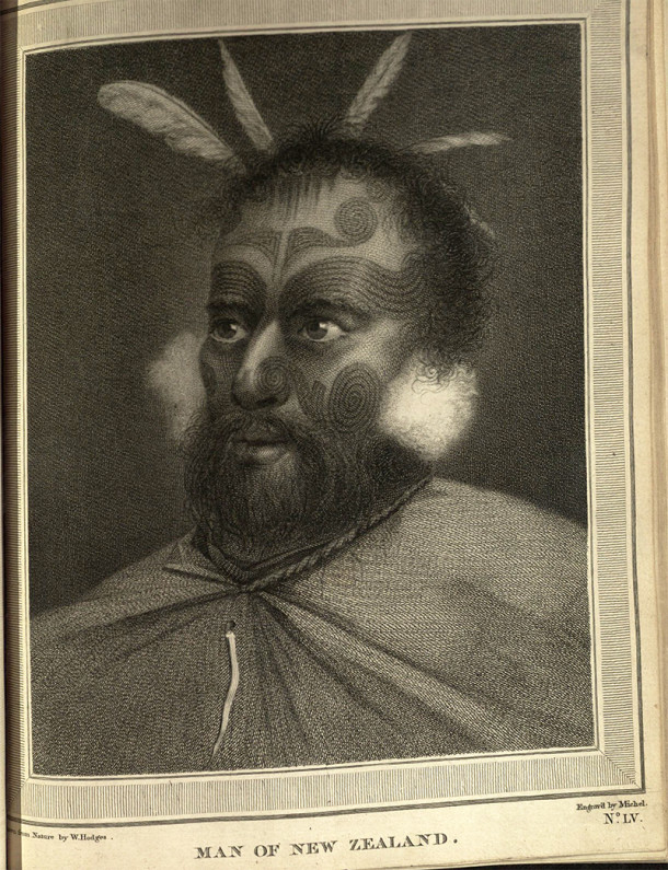 Portrait of a Maori man in New Zealand