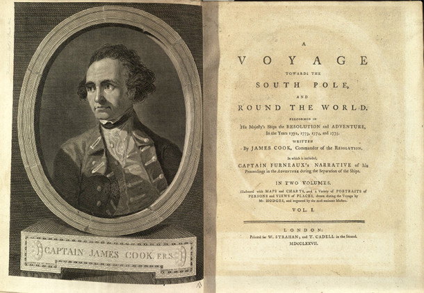 Frontispiece to A Voyage towards the South Pole and round the world