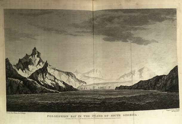 View of the sub-Antarctic Island of South Georgia