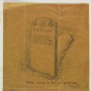 Design for a gravestone for Caleb Hill by Philip Webb, 1888