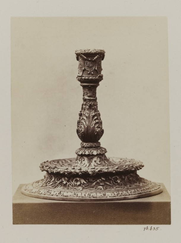 'Candlestick', albumen print photograph by Isabel Agnes Cowper, Department of Science and Art of the Committee of Council on Education, South Kensington Museum, ca. 1870s V&A 76:635 © Victoria and Albert Museum, London
