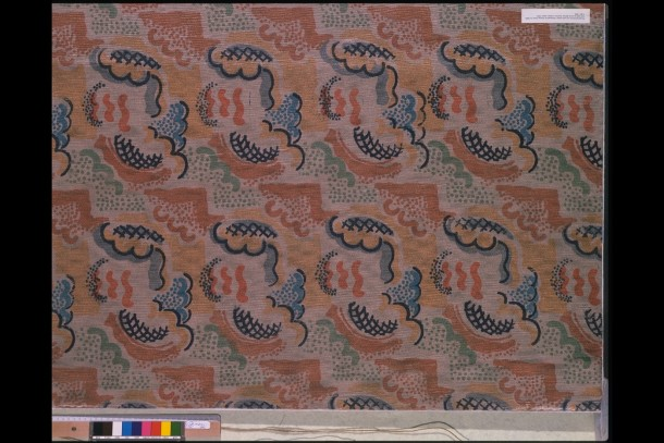 T.301-1934, 'Clouds' furnishing fabric designed by Duncan Grant for Allan Walton Textiles, 1932 © Victoria and Albert Museum, London