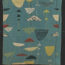'Calyx', printed linen furnishing fabric by Lucienne Day for Heals & Son Ltd., British, 1951, T.329:3-1000. Victoria and Albert Museum, London.