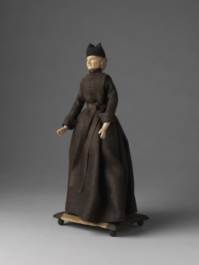 This wax and tow ecclesiastical doll (1212:30-1905) is not strictly a depiction of St. Ignatius, but would not exist without him. There are 50 in the collection, each dressed in a different habit of a different religious order. © Victoria and Albert Museum, London