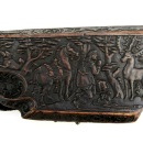 Detail of PL side of 7821-1861, wheel lock rifle, showing St. Eustace and the stag © Victoria and Albert Museum, London