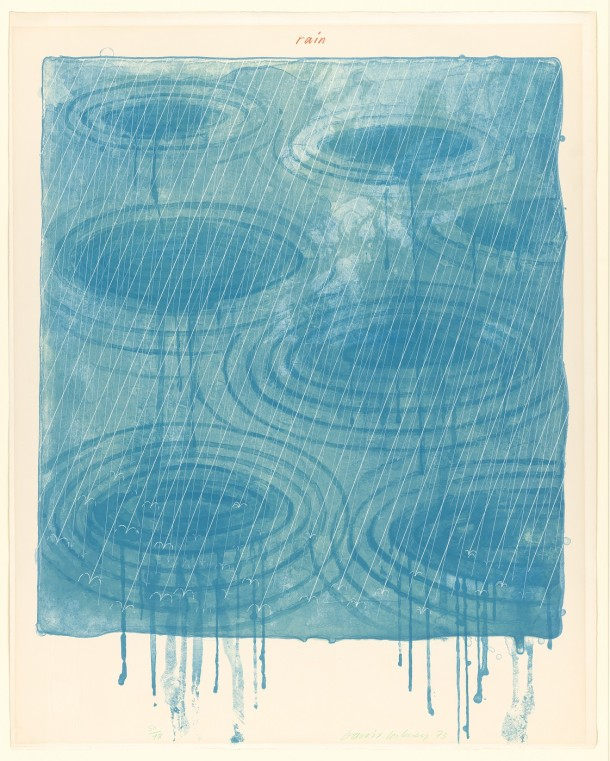 CIRC.60-1975, 'Clouds' from David Hockney's 'Weather Series'; print, 1973 © Victoria and Albert Museum, London