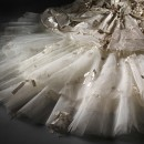 Detail of the tulle train of the Flowerbomb dress by Ian Stuart, 2011 © V&A Collection