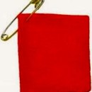 The squares students wore required two items to make – a red felt square and a safety pin.