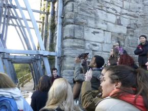 V&A/RCA History of Design students and staff at Ironbridge, photographer: Katrina Royall.