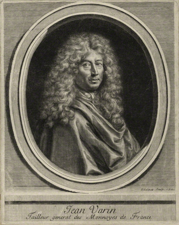 Jean Warin (Varin), line engraving, by Gérard Edelinck, late 17th century. © National Portrait Gallery, London
