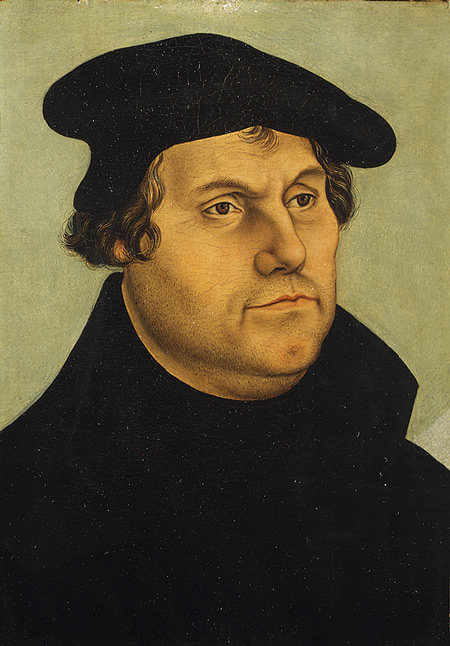 Martin Luther (1483–1546), workshop of Lucas Cranach the Elder (German, 1472–1553) © Metropolitan Museum of Art