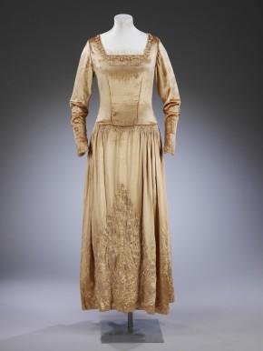 Silk velvet wedding dress, 1927