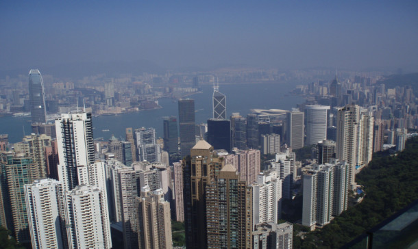 An overhead view of Hong Kong. Image courtesy of Dr Maurizio Marinelli.