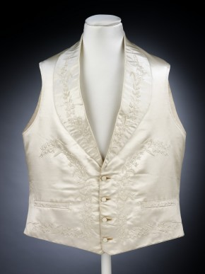 Waistcoat worn by Mr Eeles for his wedding in 1848  © V&A Collection