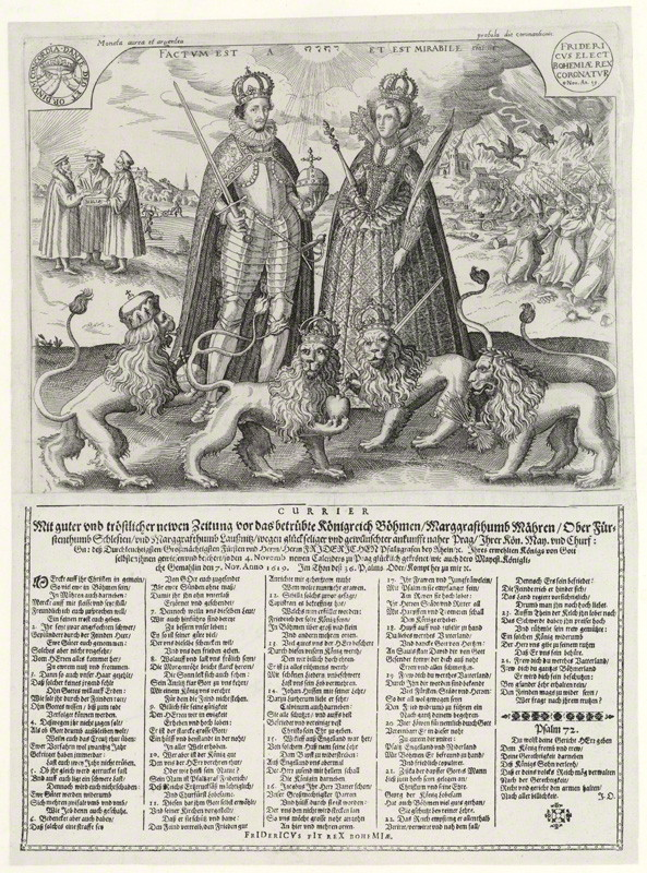 Frederick V, King of Bohemia  Elizabeth, Queen of Bohemia, etching and woodcut, 1619 © National Portrait Gallery, London