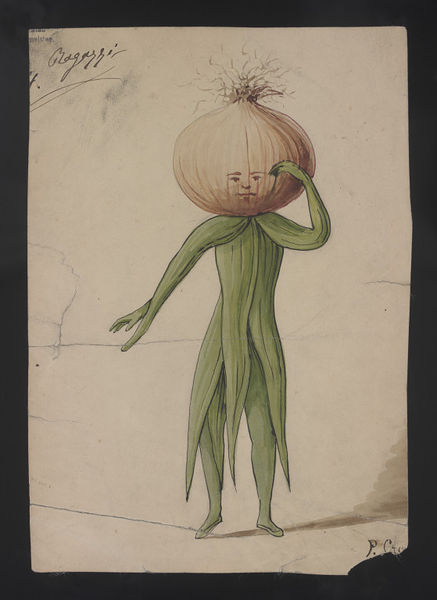 Costume design, P. Croce, late 19th century. Museum no. S.236-2000. © Victoria & Albert Museum.