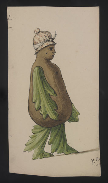 Costume design, P. Croce, late 19th century. Museum no. S.235-2000. © Victoria & Albert Museum.