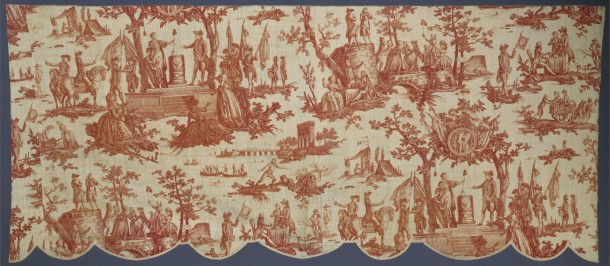 La Fête de la Fédération, valance, plate-printed cotton, designed by Jean-Baptiste Huet, manufactured by Christophe-Philippe Oberkampf, Jouy-en-Josas, France, ca.1792 (V&A 1682-1899) © Victoria and Albert Museum, London
