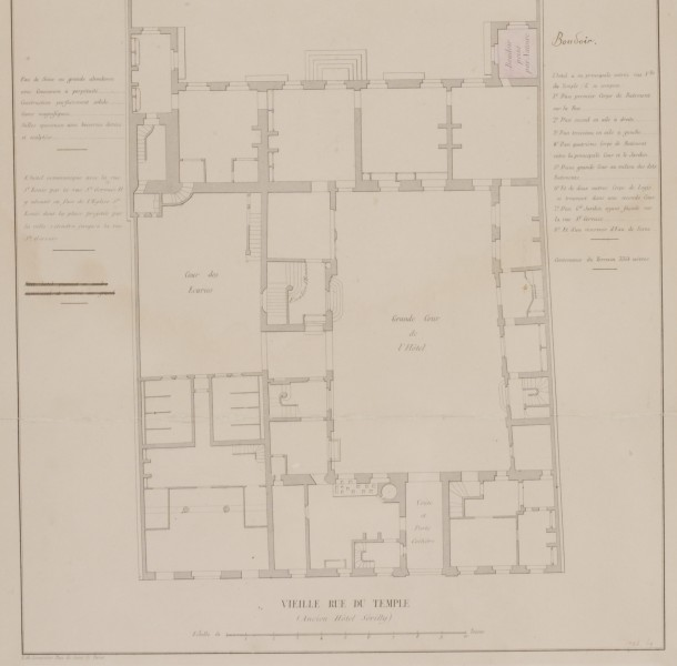 1736B-1869 Architectural plan Architectural plan of the Hotel Serilly.  French, 1850. 1850