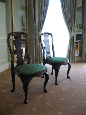 Two V&A chairs, now on loan to Sewerby Hall.